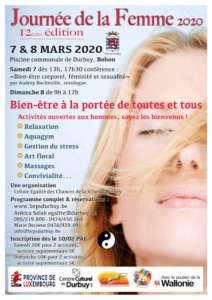 Week-end Bien-être ces 7 et 8 mars à Bohon (Durbuy)